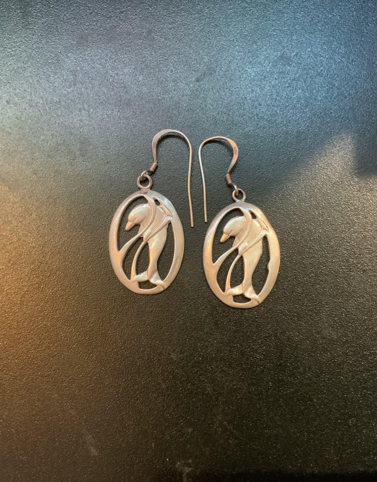 Purple Pigeon Treasures Dolphin Earrings .925