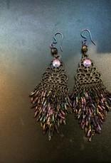 Purple Pigeon Treasures Earrings