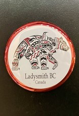 Ladysmith Bear & Orca WhaleMagnet (Red)