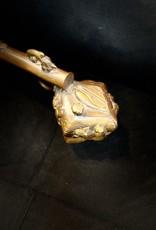 Purple Pigeon Treasures 19th Century Bronze Scholars Inkwell & Brush Holder