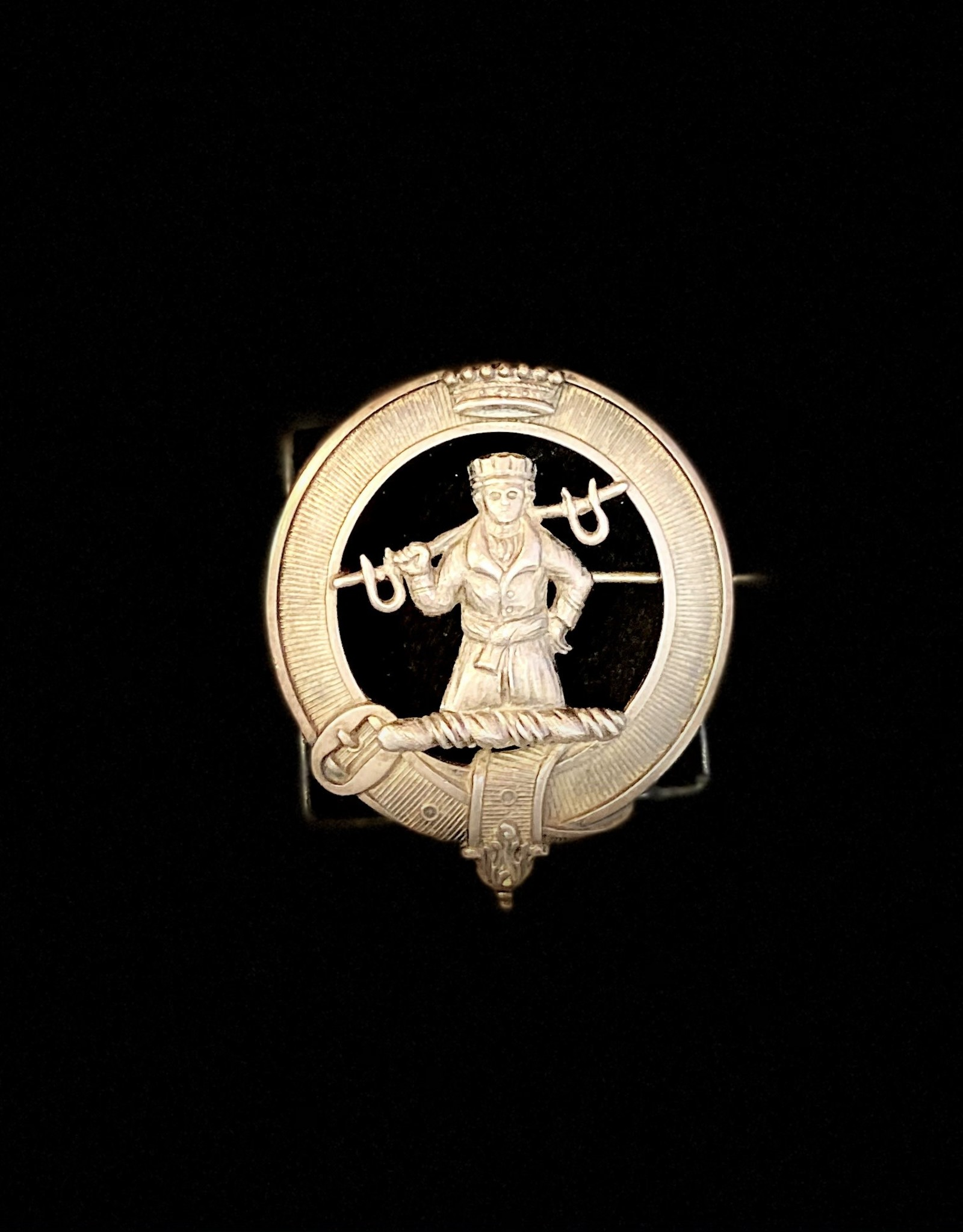 Handworked Silver Broach 1800s King/Knight