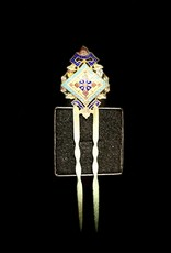 Russian Rare 19th Century Enamel Hair Pin