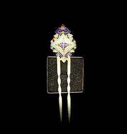 Purple Pigeon Treasures Russian Rare 19th Century Enamel Hair Pin