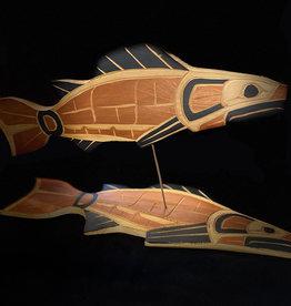 Purple Pigeon Treasures 3D Salmon Carving