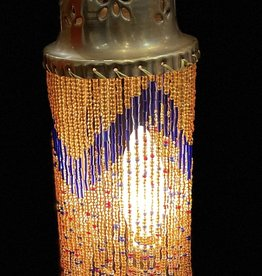 Vintage Syrian Glass Beaded Camel Lamp
