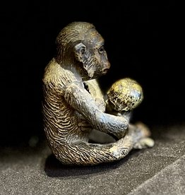 19 century Spelter Monkey