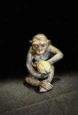 Purple Pigeon Treasures 19 century Spelter Monkey