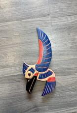 Painted Hummingbird Carving