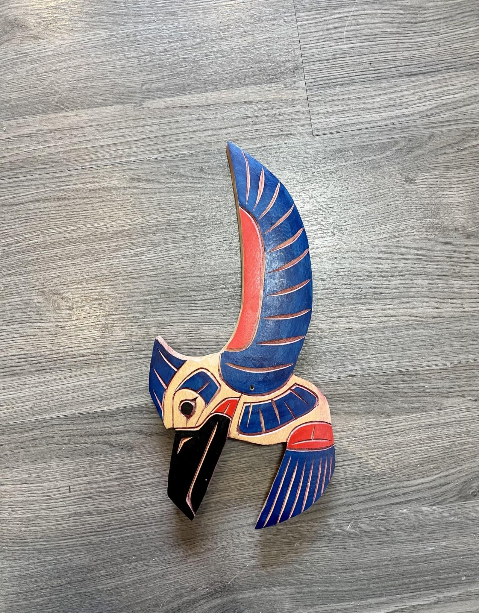 Purple Pigeon Treasures Painted Hummingbird Carving