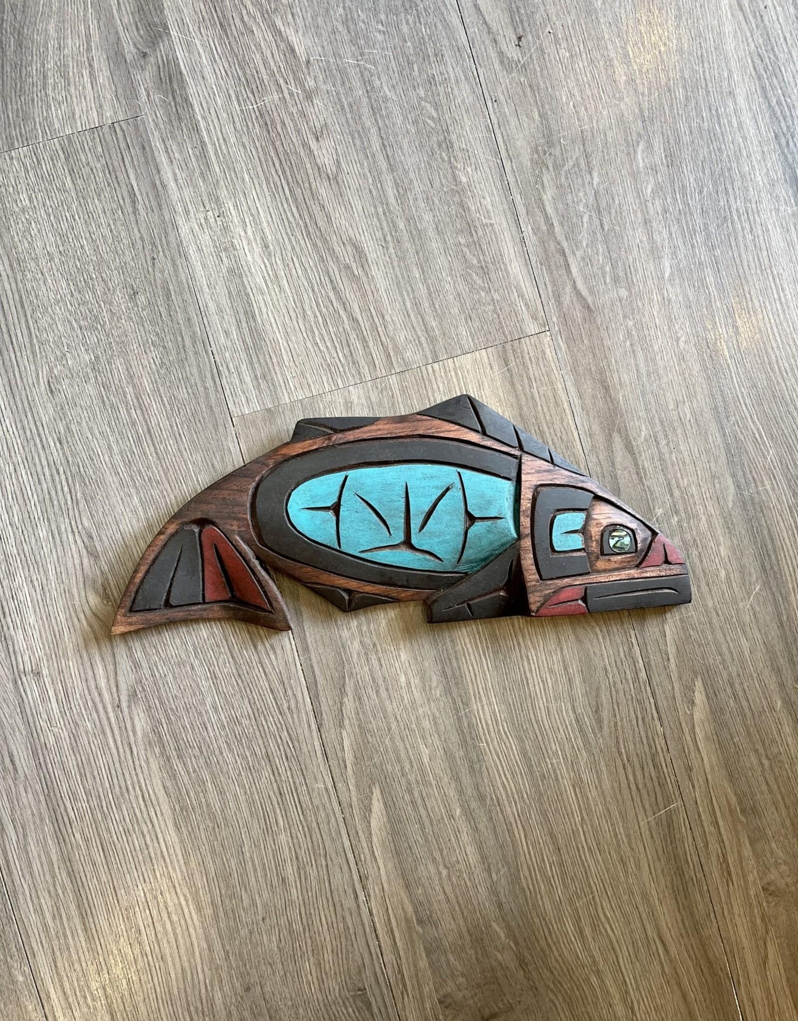 Salmon Carving Abalone Eye