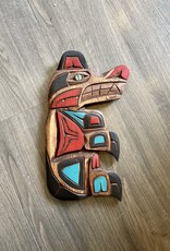 Purple Pigeon Treasures Bear Carving With Abalone Eye