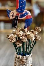 Purple Pigeon Treasures Hummingbird Carving in handmade Cedar Roses