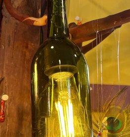Purple Pigeon Treasures Bottle Light Green (Bulb Sold Separately)