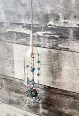 Glass Bottle Wind chime - Blue