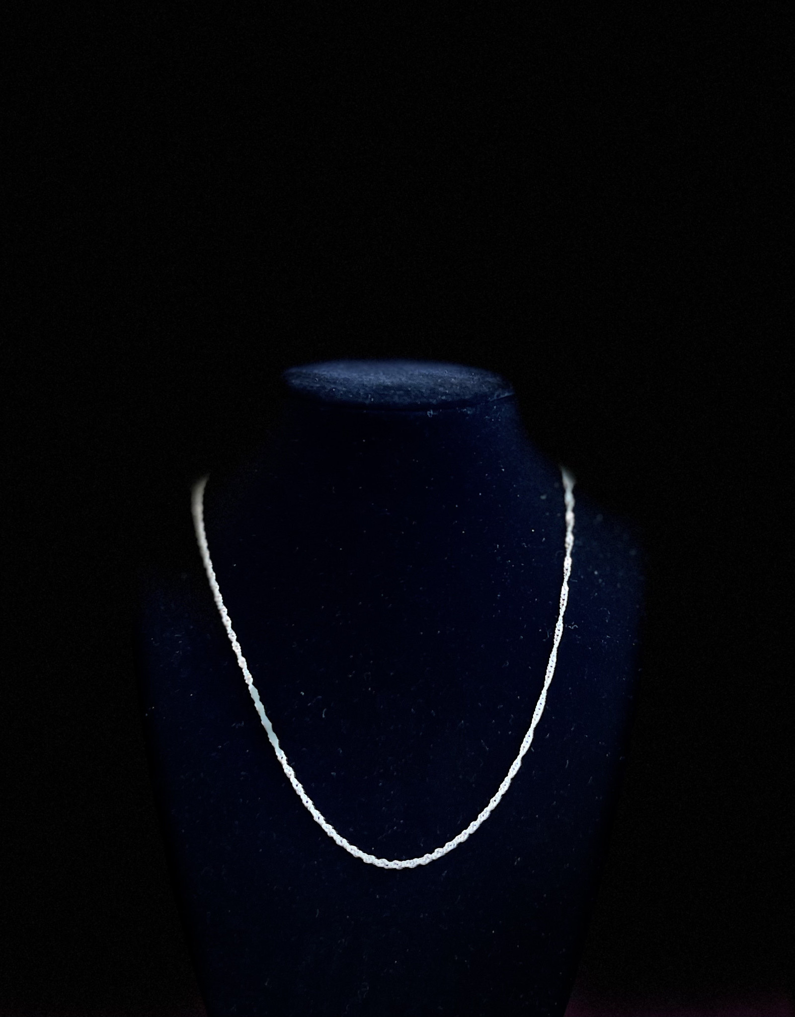 """Jewelry - Plated Stirling Silver Necklace Twisted Chain Medium 15"""""""