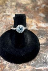 Jewelry - Blue Topaz Ring  .925   Size 6