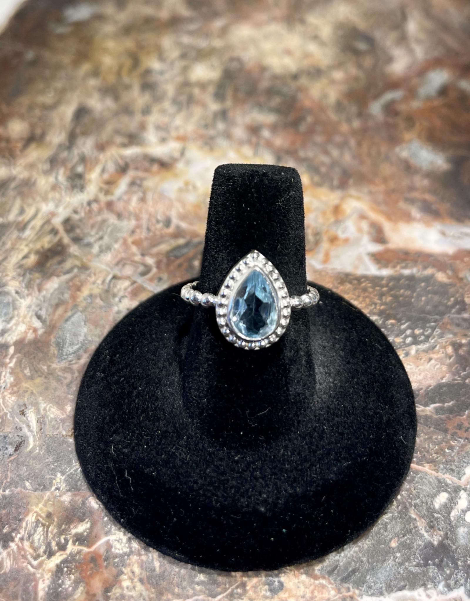 Jewelry - Blue Topaz Ring  .925   Size 7.5