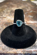 Jewelry - Rough Cut Blue Topaz Ring   .925 Sz 8