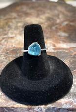 Jewelry - Rough Cut Blue Topaz Ring   .925 Sz 7