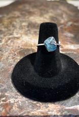 Jewelry - Rough Cut Blue Topaz Ring   .925 Sz 6