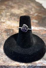 Jewelry - Rough Cut Amethyst Ring   .925 Sz 6
