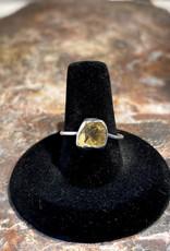 Jewelry - Rough Cut Citrine Ring .925  Sz 9