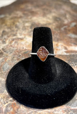 Jewelry - Rough Cut Brown Tourmaline .925  Sz 7
