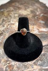 Jewelry - Rough Cut Brown Tourmaline .925  Sz 6
