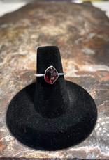 Jewelry - Rough Cut Red Almandine .925 Sz 6