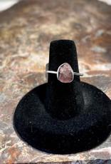 Jewelry - Rough Cut Rose Quartz  .925 Sz 8