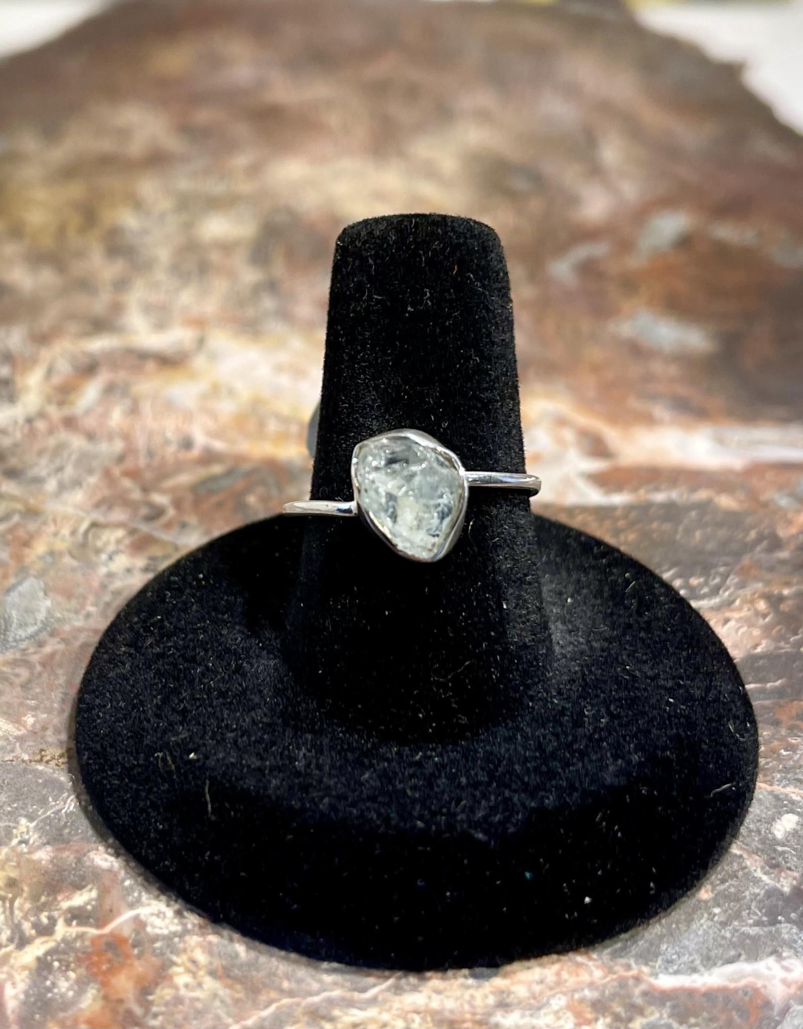 Jewelry - Rough Cut Quartz .925 Sz 8