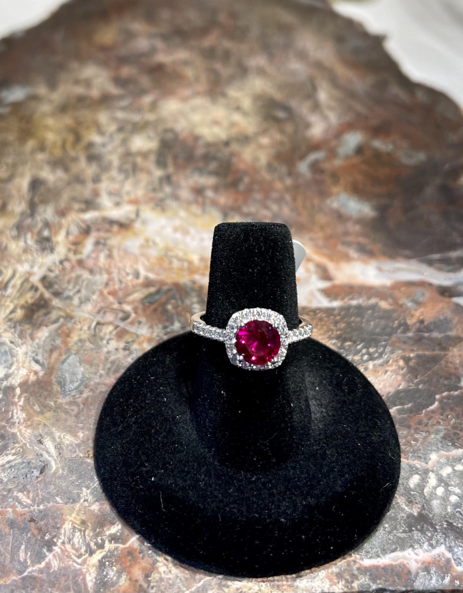Jewelry - Swarovski Crystal Ring .925  Sz7
