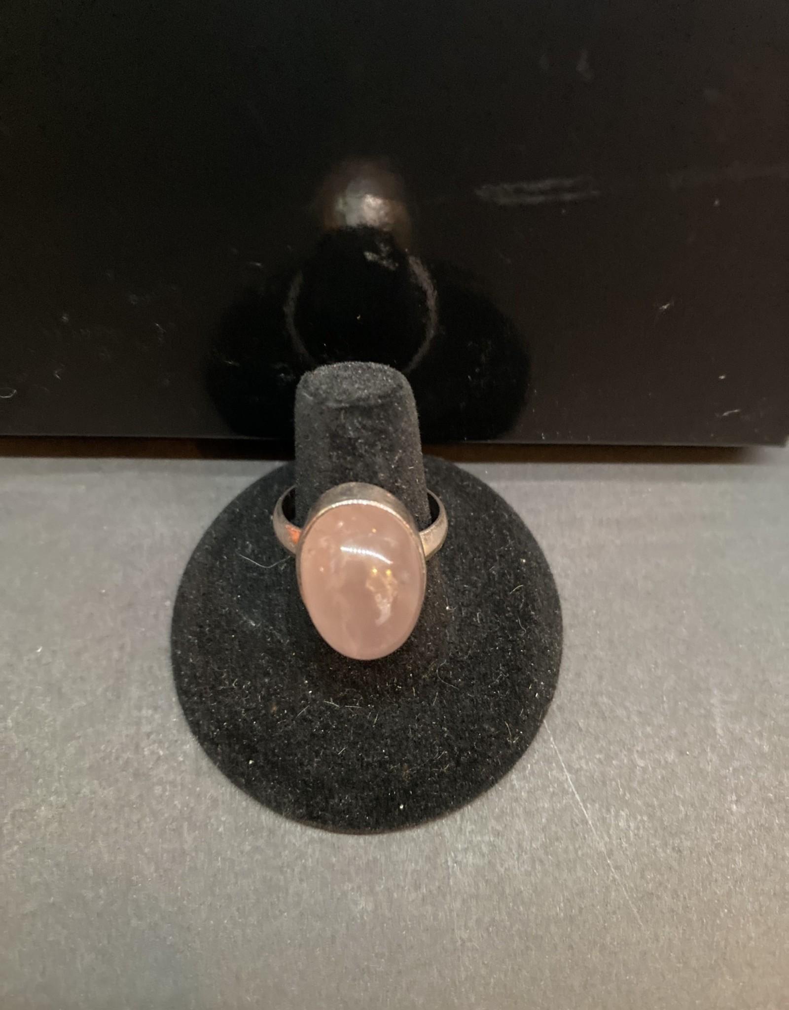 Jewelry - Milk Rose Quartz .925 sz8.5