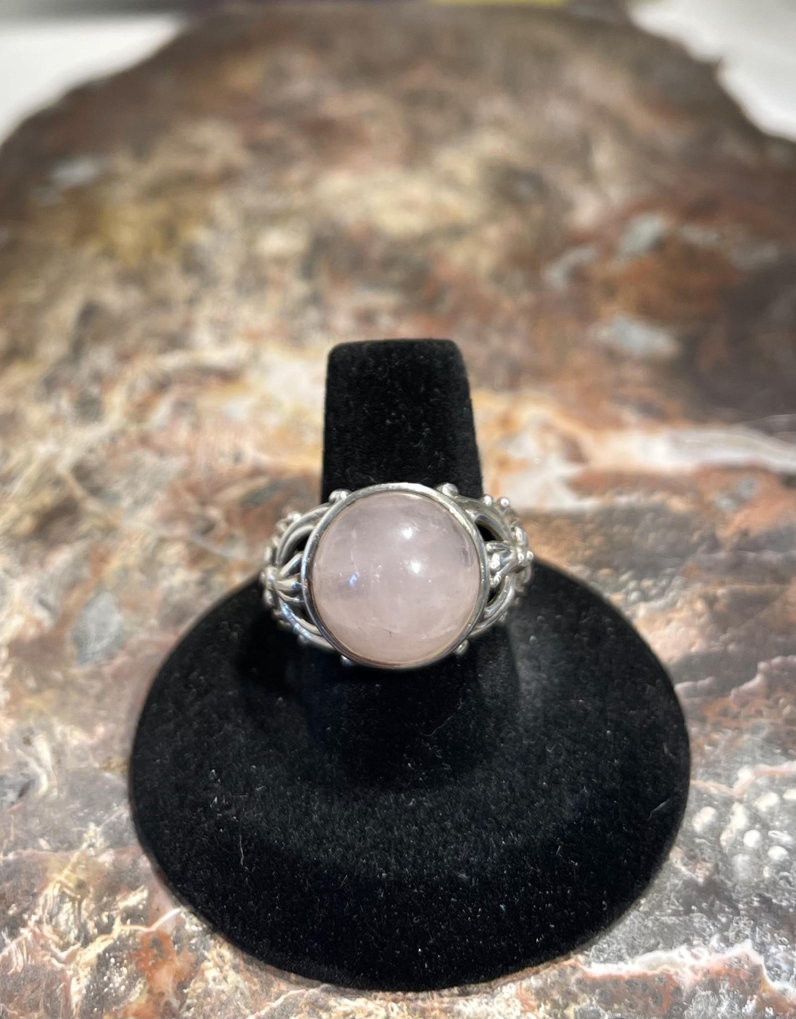 Jewelry - Rose Quartz Ring .925