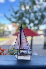 Purple Pigeon Treasures Stain glass Sailboat - Purple