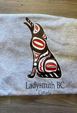 Clothing - T-Shirt Large Light Grey Wolf