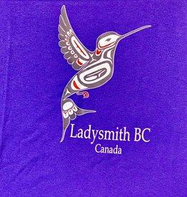 Clothing - T-Shirt Small Purple Hummingbird