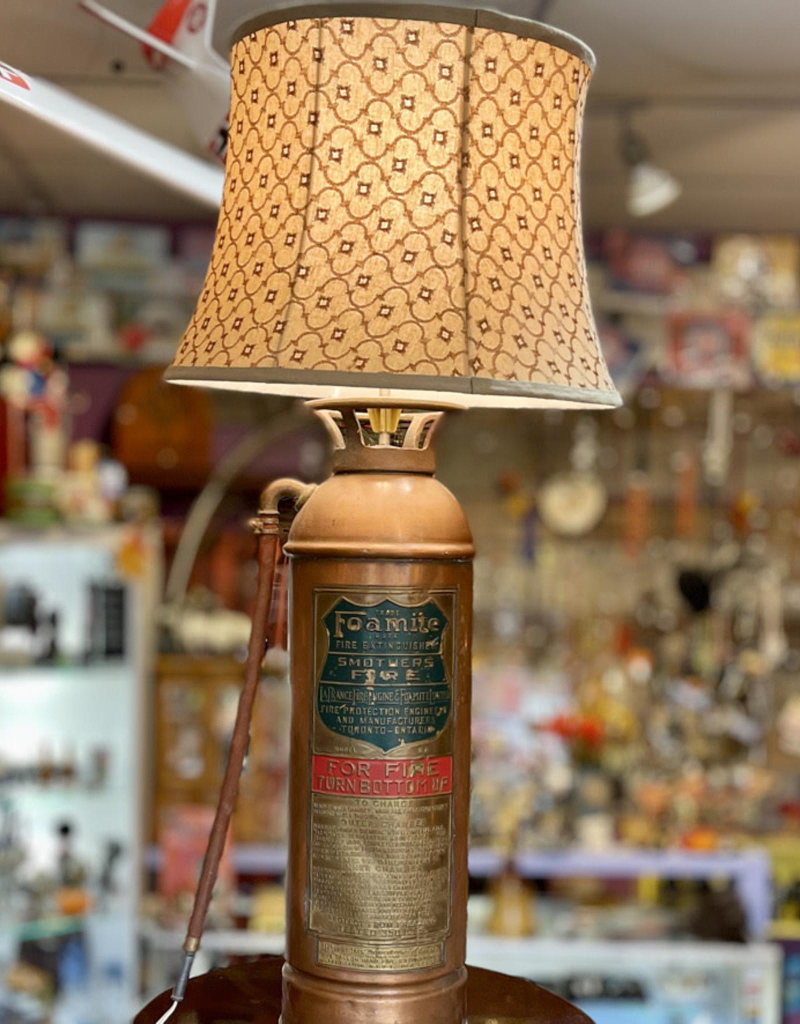 Purple Pigeon Treasures Fire Extinguisher Lamp