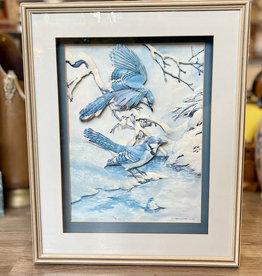 Purple Pigeon Treasures BlueJay Shadowbox