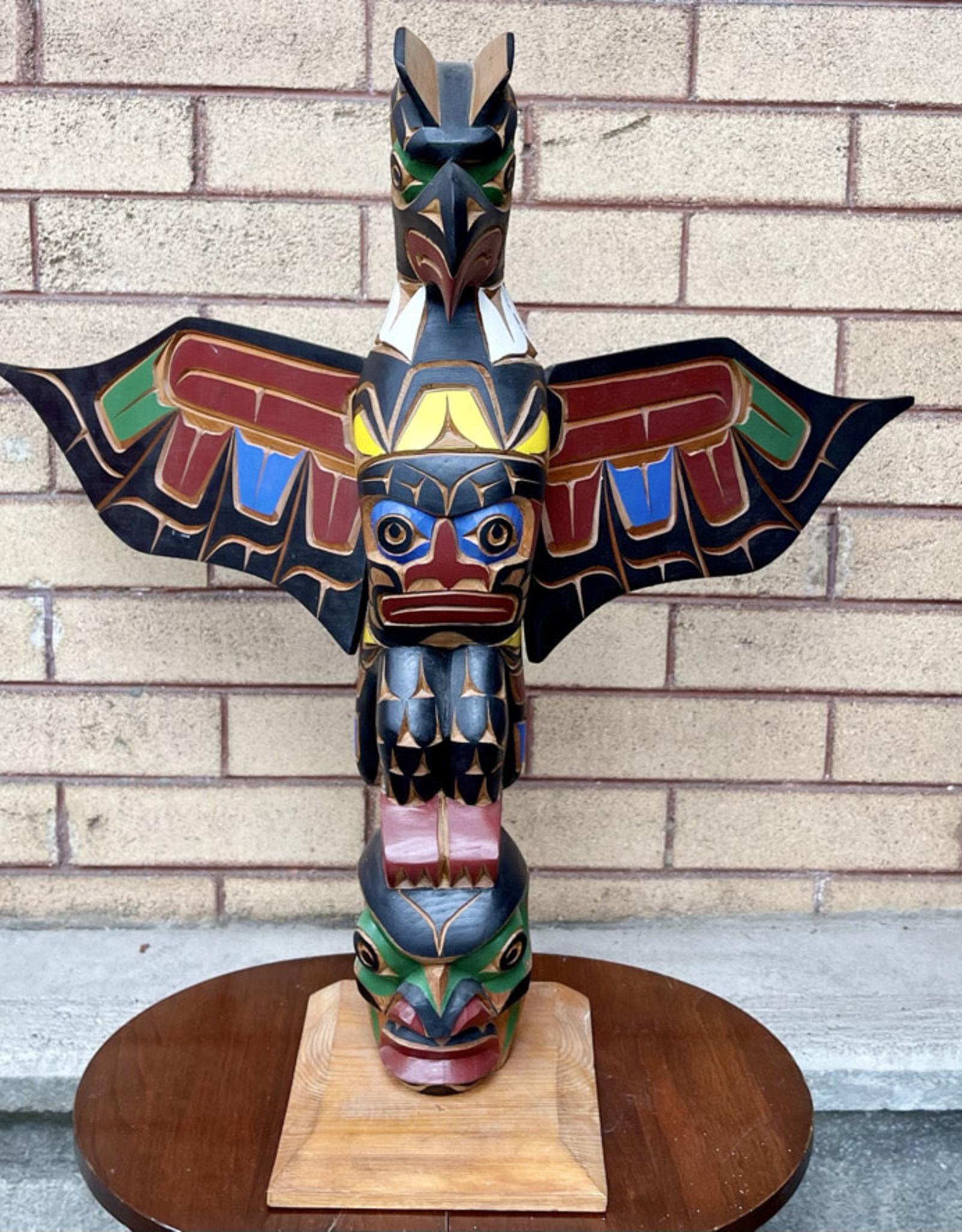 Aboriginal - Totem Pole - Thunder Bird & Human Faces