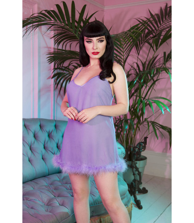 Playful Promises Bettie Page Feather Babydoll
