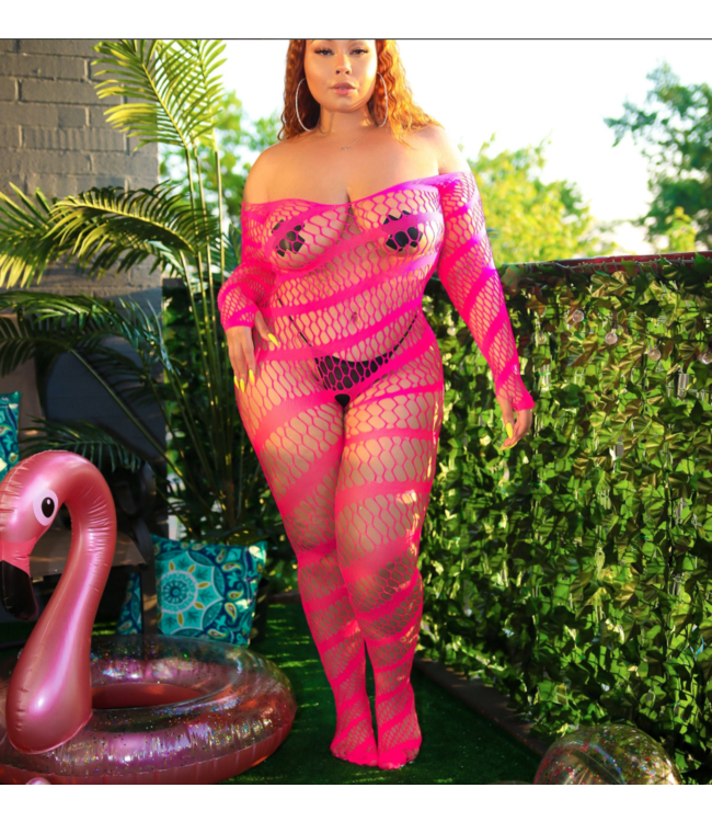 Monif C Neon Pink - Bodystocking