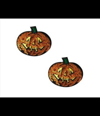 Neva Nude Pumpkin Sequin Nipztix Pasties