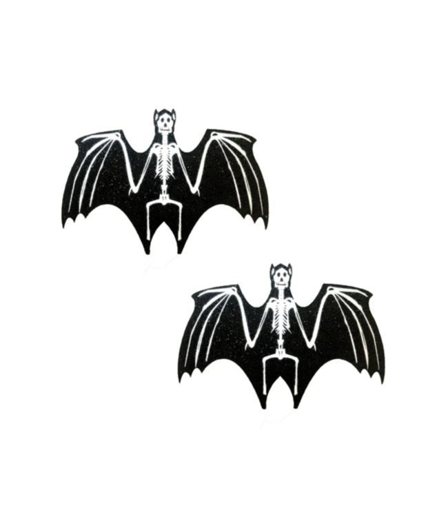Neva Nude Glitter Blacklight Glow Skeletor Bat Nipztix
