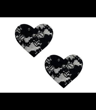 Neva Nude Vogue Black Lace I Heart U Pasties