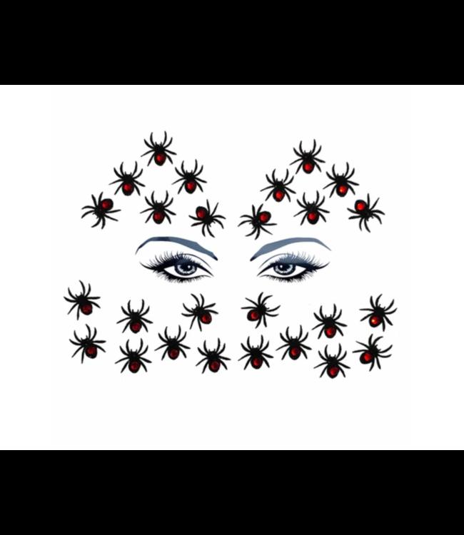 Neva Nude Black Widow Glitter Crystal Spider Body and Face Stix