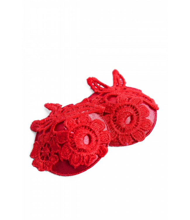 Hustler BROOKE RED APPLIQUE NIPPLE PASTIES