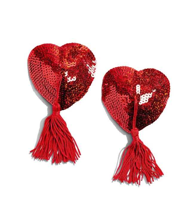 Bristols6 Sequin Hearts with Tassles