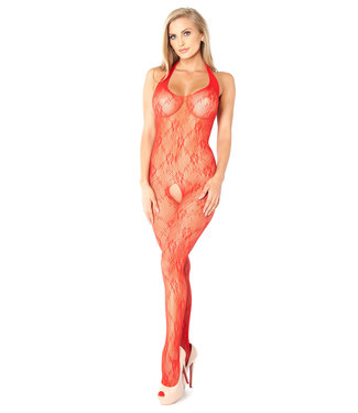 Glitter Lace Halter Bodystocking