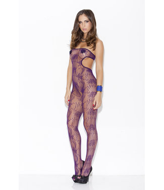 Hauty Floral Fishnet Tube Top Bodystocking